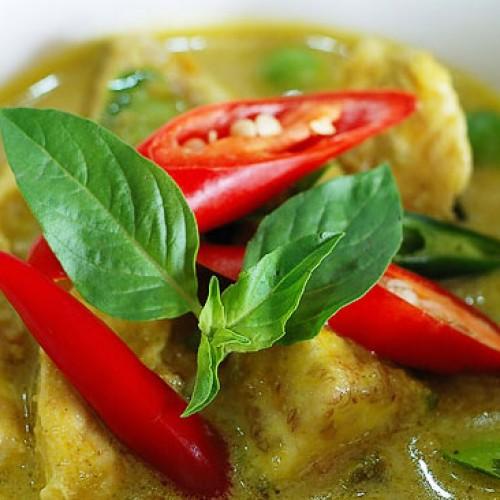 แกงเขียวหวานเจ สูตรทำแกงเขียวหวานเจ เมนูอาหารเจประเภทแกง